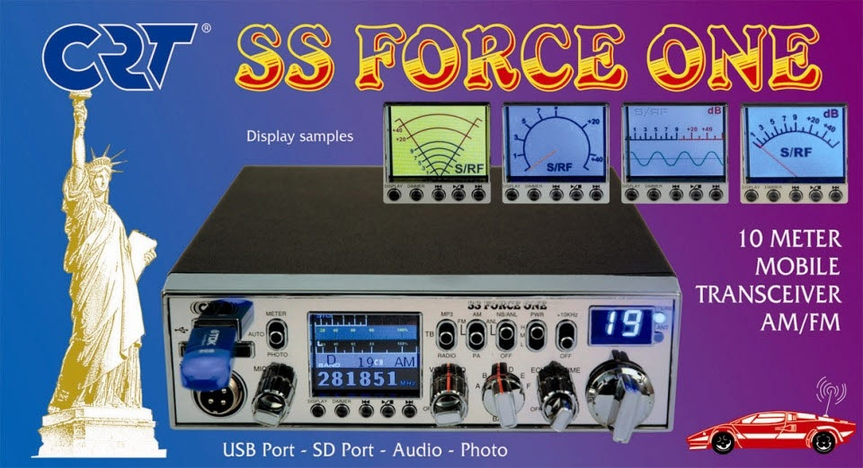 CB CRT SS-FORCE-ONE AM / FM 3 positions (1 / 4 / 10W